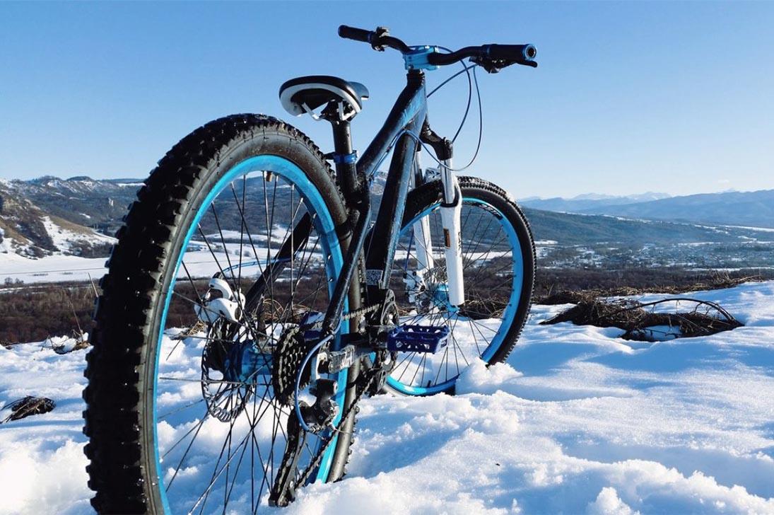 Подготовка велосипеда к катанию в зимний период